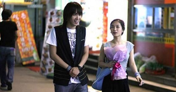 hongki with his date in 'scandal'